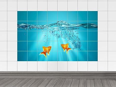 Piastrelle adesivo piastrelle stampa su animali oro pesci acquario