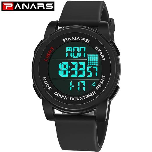 Relojes de los Hombres Reloj LED Digital Reloj de Pulsera de los Hombres Relojes Deportivos a Prueba de Agua para Hombres: Amazon.es: Relojes