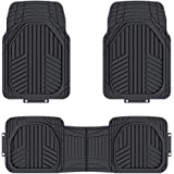 AmazonBasics 3-Piece All-Season Odorless Heavy Duty Rubber Floor Mat for Cars
