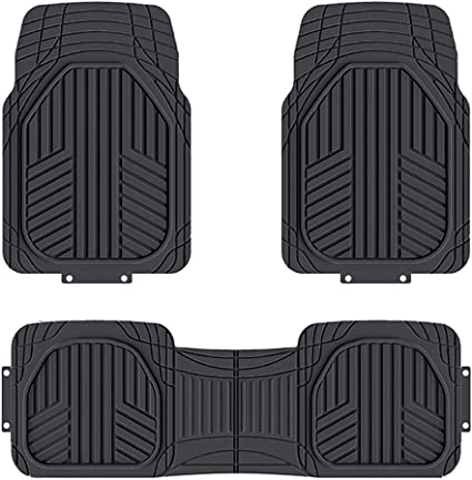 Carsio Black Rubber Tailored Car Floor Mats To fit Renault Kadjar 2015 3mm 4pc Set