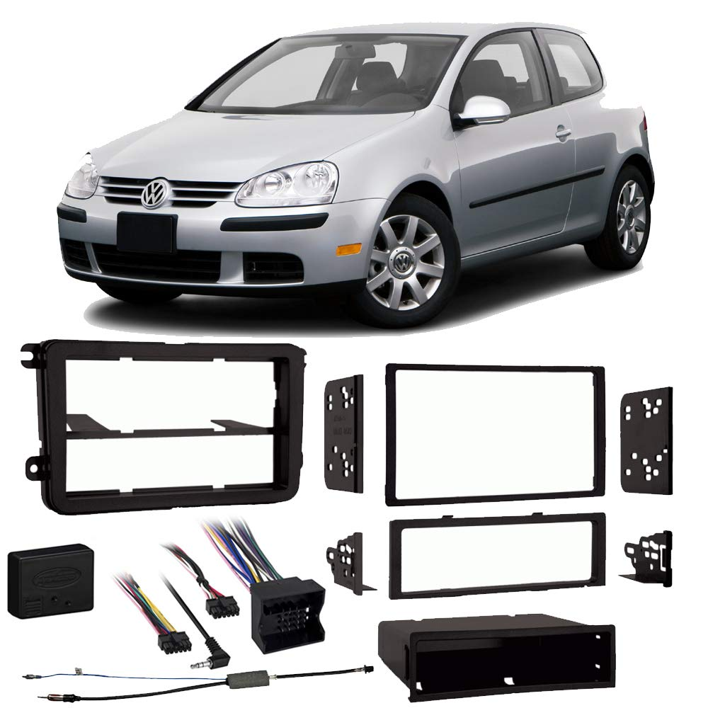 Volkswagen Rabbit 2006-2009 Single or Double DIN Stereo Radio Install Dash Kit