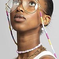 Bohend Boho Cadena larga para gafas de sol Oro bohemio Cadena de mascarilla Mujer Cadena de anteojos Accesorios para…