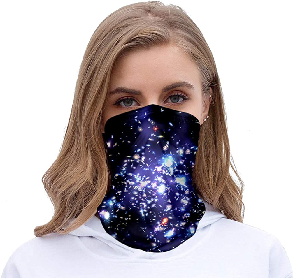 KESYOO 1pc Sun-proof Neck Gaiter Sports Face Scarf Cooling HeadbandFace for Fishing Outdoor Hiking Starry Sky Pattern 32