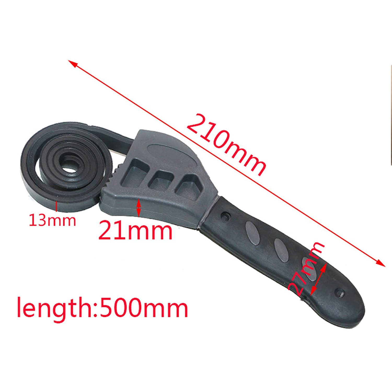 r/églable en caoutchouc Cl/é Tire-bouchon universel 500/mm Cl/é /à sangle avec poign/ée solide serrer desserrer de voiture Outil de r/éparation