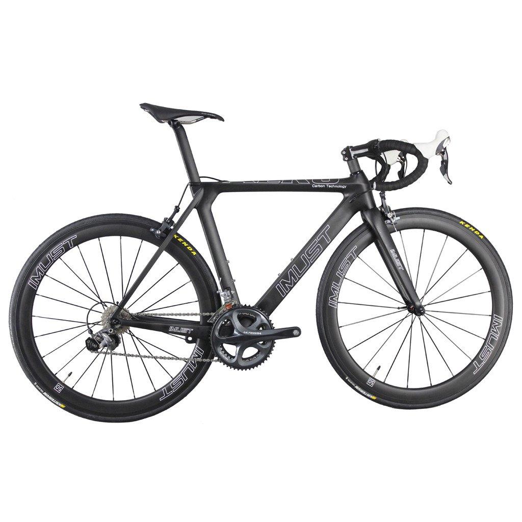 IMUST(アイマスト)フルー カーボン ロードバイク 空気力学的なデザイン 軽量 V ブレーキ 1セット B014W71WUS 54cm