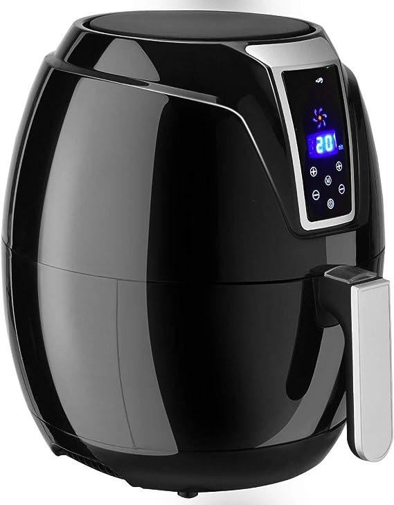 Pot amovible Grande Capacit/é de 3,2L pour la famille en PP et ABS 29 x 34 x 33CM Noir DREAMADE Friteuse sans Huile Electrique Friteuse /à Air Chaude avec Temp/érature et Temps R/églables Ecran Tactile