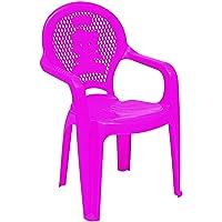 Cadeira Plástica Monobloco com Braços Infantil Estampada Catty, Tramontina, Rosa