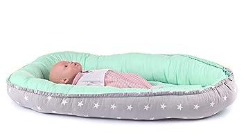 Reisebett antiallergisch Multifunktionale Kuschelnest Babynest Kokon f/ür Babys und S/äuglinge Nestchen 100/% Baumwolle