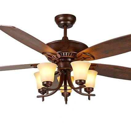 Luxurefan Retro Antique Ceiling Fan Light Bulbs Remote Control