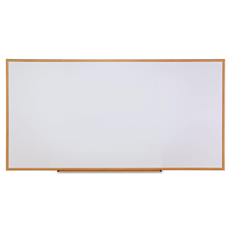 Dry-Erase Board, Melamine, 96 X 48, White, Oak-Finished Frame By: Universal One