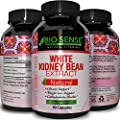 Pure White Kidney Bean Extract For Weight Loss + Appetite Suppression + Digestive Support - Phase 2 Carb Blocker Capsules – Natural Fat Burning Dietary Supplement for Women and Men - By Bio Sense