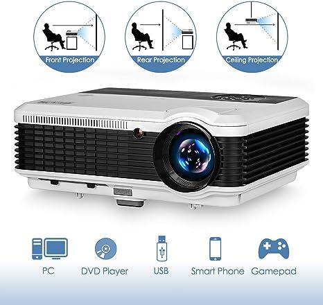 WIKISH Proyector de Cine en casa HD Proyector de TV Digital de ...