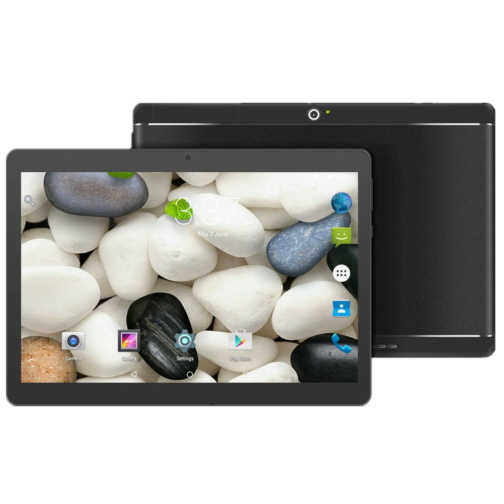 Android Tablet with SIM Card Slot Unlocked 10 inch - YELLYOUTH 10.1'' IPS Screen Octa Core 4GB RAM 64GB ROM 3G Phablet with WiFi GPS Bluetooth Tablets (Black)