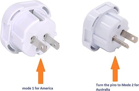Tech Traders/® Adaptateur de voyage UK vers USA USA USA Australie Nouvelle-Z/élande