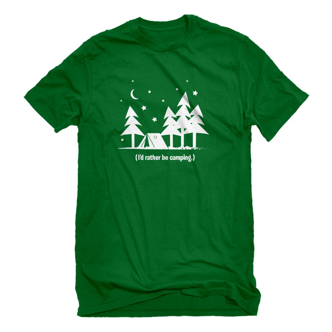 Indica Plateau Mens I'd Rather be Camping T-Shirt 3688-M