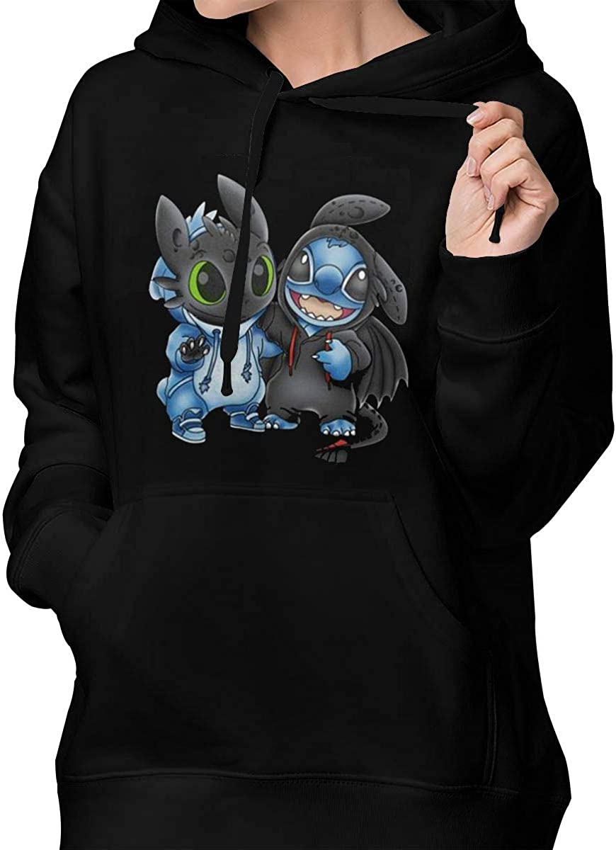 AP.Room Stitch and Toothless Womens Hooded Sweatshirts Pattern Teen Girls  Hoodies Casual Loose Pullover Sweatshirt Outwear Clothing, Shoes & Jewelry  Girls