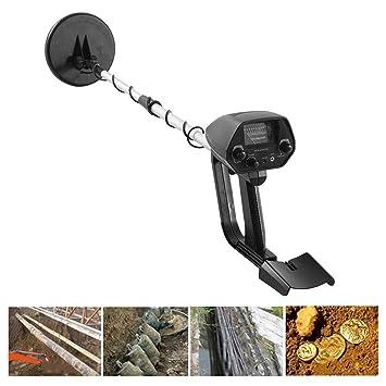Lorenlli Profesional MD-4030 Detector de Metales subterráneo Ligero y portátil Detectores Ajustables de Oro Buscador de rastreadores Treasure Hunter: ...