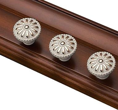 Wooden Cabinet Knobs Round Closet Dresser Door Handles Furniture Drawer Pulls