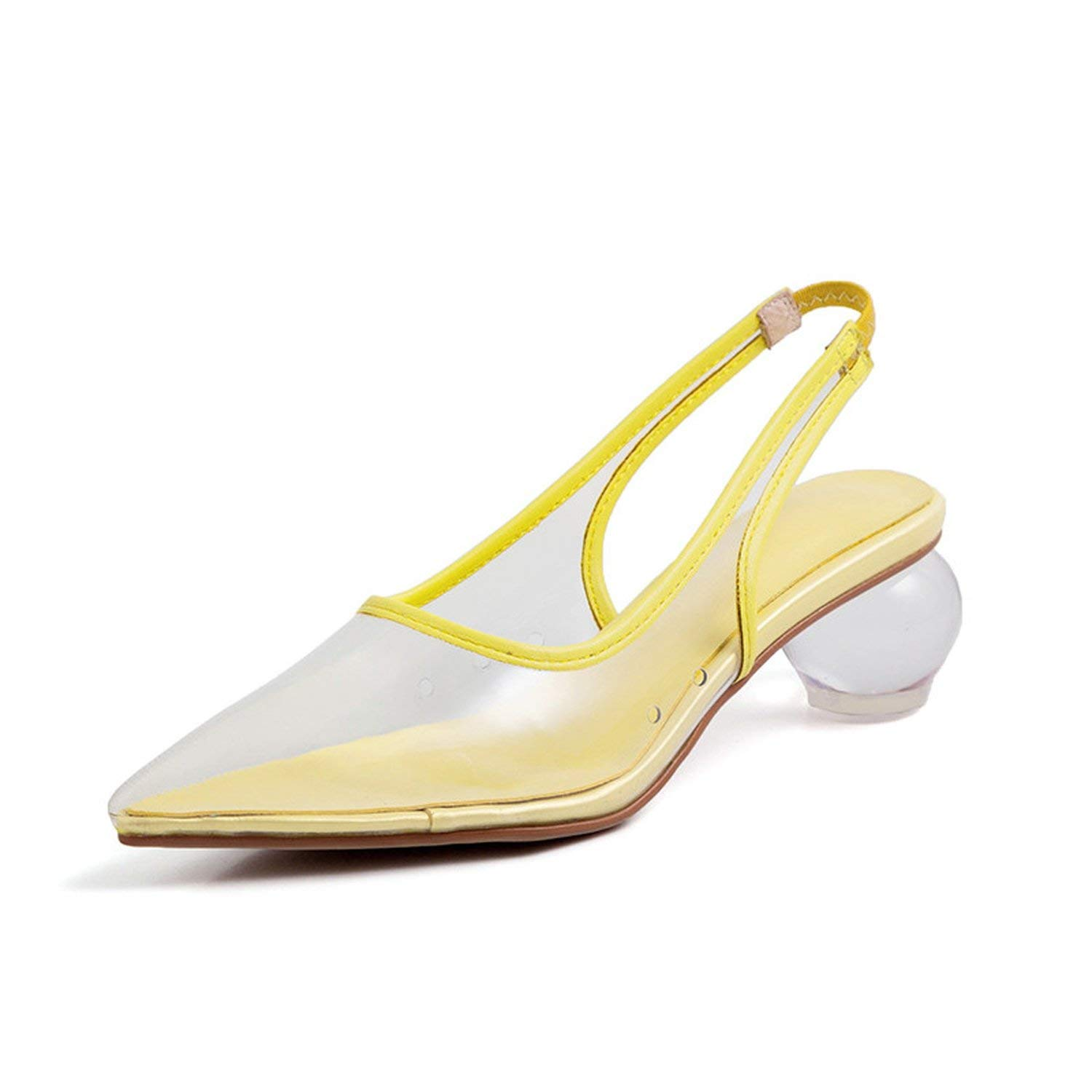 YELLOW I Need-You Pointed Toe Sexy Fashion Party Woman Sandals Transparent Crystal Heels Ladies Sandals Mixed colors Sandalias women 2019
