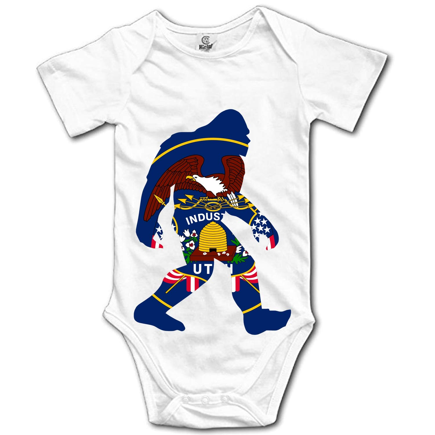 Qilrocm Ohio State Flag Map Baby Rompers Short Sleeve Infant Cotton Bodysuits One-Pieces