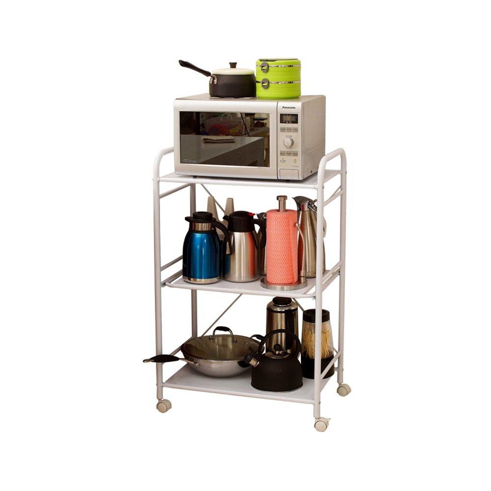CHS@ 3層多機能大型電子レンジシェルフ、キッチンバスルームレストランオーブン調節可能な金属製棚62.5 * 39 * 97cm B07RVN1115