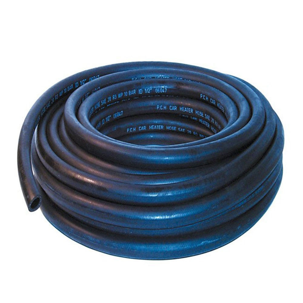 16mm ID Black 4 Metre Length Rubber Heater Hose - AutoSiliconeHoses