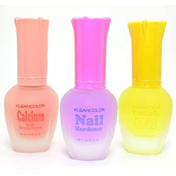 3 Kleancolor Nail Polish Calcium Hardener Cuticle Oil Treatment Lacquer Free Earring