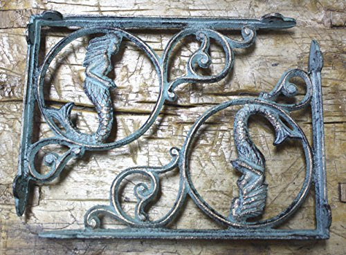 12 Cast Iron NAUTICAL MERMAID Brackets Garden Braces Shelf Bracket PIRATES Ship , Garden Braces Shelf Bracket , Garden Braces Shelf Bracket RUSTIC , Wall Brackets Shelf Support for Storage by New