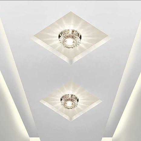 Plafón Redonda LED Cristal Lámpara de Techo 5W Luz de noche ...