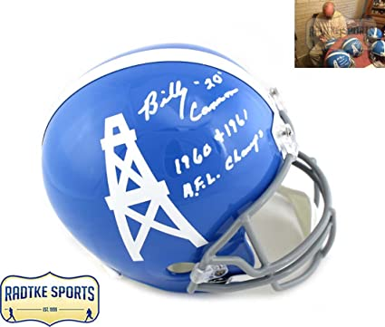 3b90df04 Amazon.com: Billy Cannon Autographed/Signed Houston Oilers Riddell ...