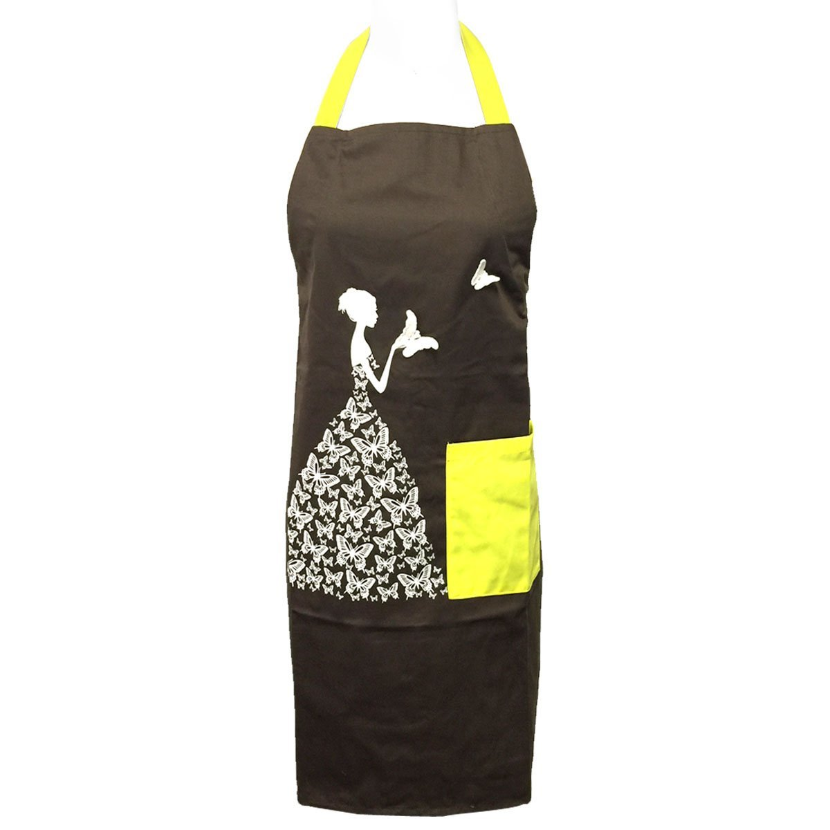 Yellow Wrapables Butterfly Girl Adjustable Work Apron