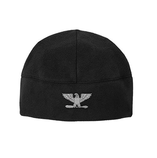 9d737a00 Officer Rank O-6 Colonel / Captain Veteran Embroidered Beanie Watch Cap  (Black)