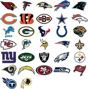 Amazon.com: NFL teams logo 32 wall decals stickers. Good