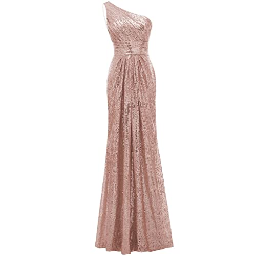 Rose Gold Sequin Bridesmaid Dress: Amazon.com