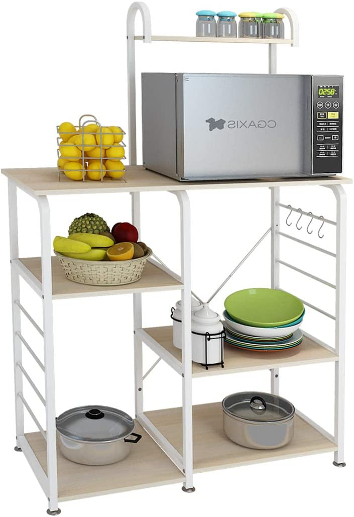 dlandhome microwave cart stand 35 4 inches kitchen utility storage 3 tierx4 tier for baker and rack and spice rack organizer workstation shelf