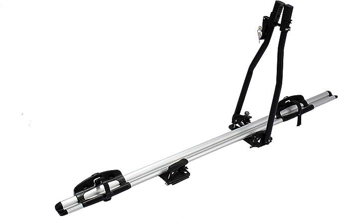 Hartool Fahrräderhalter Dachfahrradträger Mit Diebstahlsicherung Universalhalterung Alu Dachträger Silber Schwarzes Silber Auto