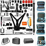 Ultimate 50in1 Combo for GoPro Accessories Kit Pack GoPro Mounts Bundle Set Starter Suit w Hi Capacity Dual-Layer Waterproof Anti-impact Hand Bag for GoPro Hero 6 5 4 3+ 3 Session Sony Yi AKASO -13