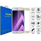 Samsung Galaxy A3 ( 2017 ) - Curvo 3D Pellicola Protettiva Vetro Temperato, 3D da Bordo a Bordo Copertura Completa con Pellicola Proteggi Schermo per Samsung Galaxy A3 (2017) / Samsung Galaxy A3 (2017) Duos ( Oro )