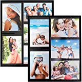 magnet picture frames for fridge - Wind & Sea Magnetic Picture Collage Frame  for Refrigerator, 2-Pack, Black