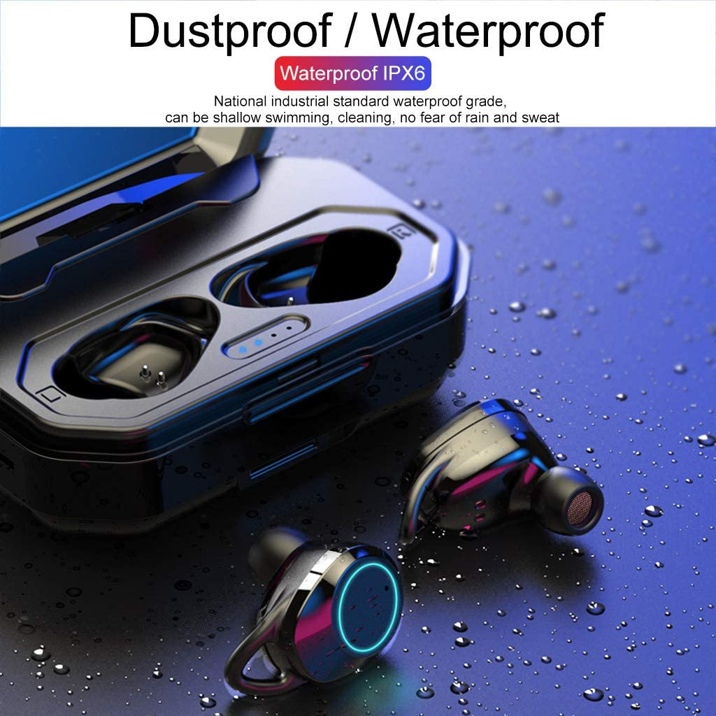 Yeefant Bluetooth 5.0 Headset TWS Wireless Earphones Mini Earbuds Stereo Headphones Headset with Microphone for iPhone and Android Smart Phones