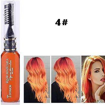 D-SYANA8 Tiza de Pelo, Color Temporal Tinte para Cabello No ...
