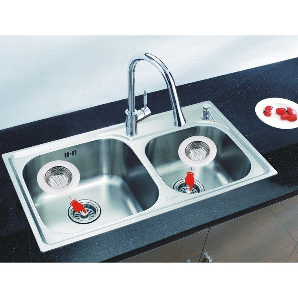 Amazon.com: 2pcs Stainless Steel Kitchen Sink Drain Strainer - Large ...
