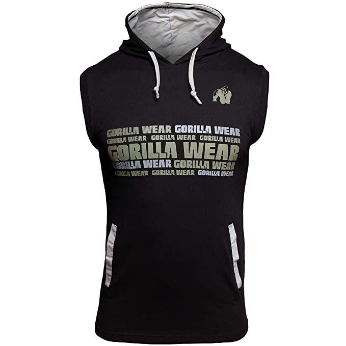 Gorilla Wear Sweat à Capuche sans Manches Melbourne Sleeveless Hooded T Shirt Bodybuilding Hooded Shirt