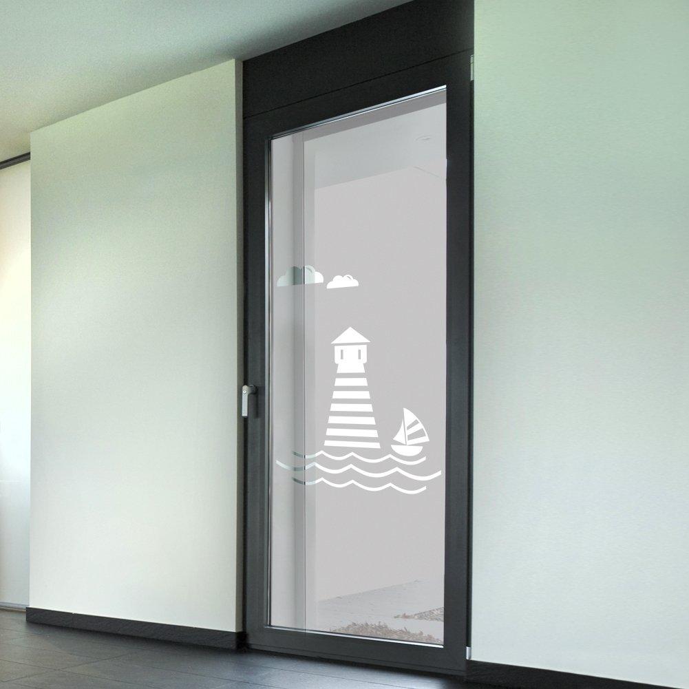 "Wandkings Milchglasfolie ""Leuchtturm Motiv"" 211 x 61 cm H x B"