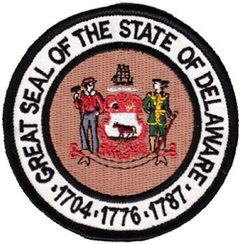 Delaware - 3 in Round State Seal Patch