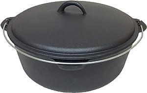 Cuisiland 12QT Cast Iron pre-seasoned Dome Lid Dutch Ovens