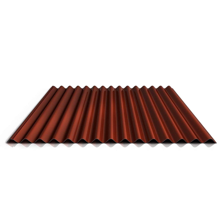 Wellblech Beschichtung 25 /µm Material Stahl Farbe Rotbraun Dachblech Profilblech St/ärke 0,50 mm Profil PS18//1064CR