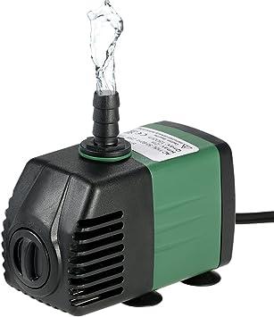 Decdeal 1500L/H 25W Bomba de Agua Sumergible con 2 Boquillas AC220-240V para Acuario Fuentes Jardín de Agua Sistema Hidropónico: Amazon.es: Bricolaje y herramientas