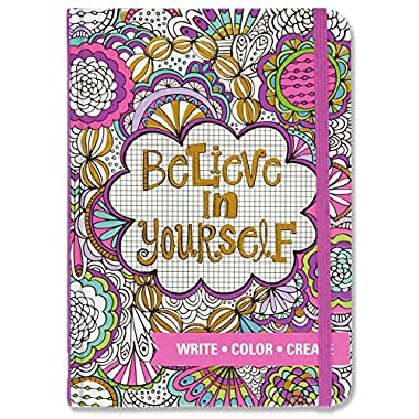 Believe in Yourself Adult Coloring Journal (Write, Color, Relax)