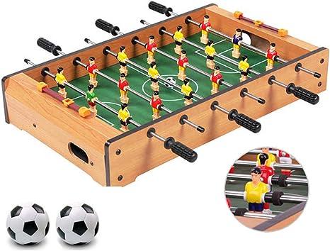 Zgifts Juegos de Mesa de Mesa de futbolín - Mesa de Madera Maciza portátil de 48 cm